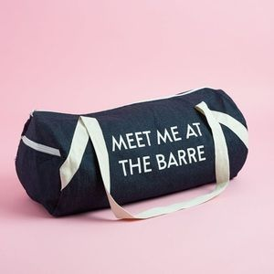 "Private Party ""Meet Me At The Barre"" Gym Bag"